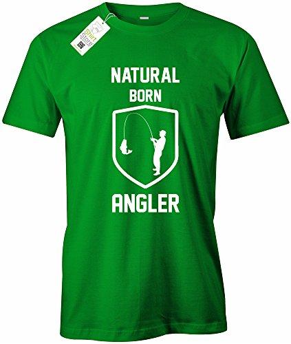 NATURAL BORN ANGLER - HERREN - T-SHIRT Grün