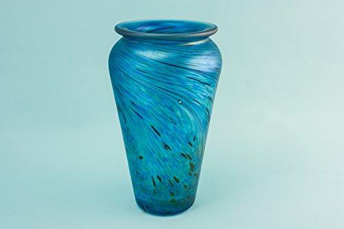 Crystal Vintage Medium Tapered VASE Geschenk Mottled Modernist Slick Glass Einzigartig Selten Englisch Late 20th Century LS