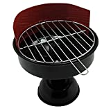 Land-Haus-Shop Aschenbecher Metall Grill Design 11,5cm, Balkon Fest Party Aschen Ascher Becher (LHS)