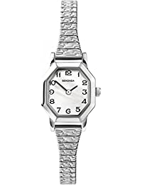 SEKONDA Women's Quartz Watch with Mother Of Pearl Dial Analogue Display and Silver Stainless Steel Bracelet 4623.2700000000004