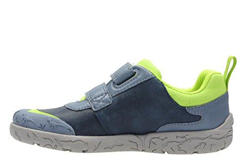 Clarks Brontoglow, Sneakers Basses Garçon Blue Combi