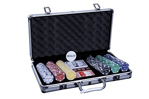 Casinokart ChipPack Casino Quality with Denomination - 300 Pcs Poker (Multicolour)