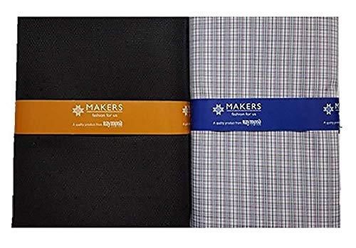 Raymond Makers Men's Poly Cotton Unstitched Fabric for Shirt and Trouser Combo (Multicolor, Free Size)