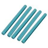 sourcingmap® 5Stk 7mmx100mm Himmelblau heiß schmelzen Klebepistole Kleber Heißleim