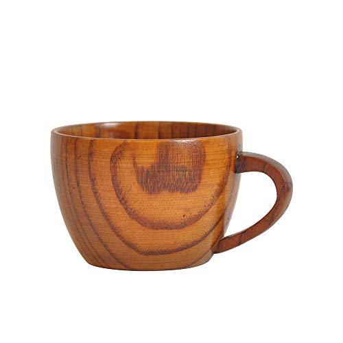 MA87 Neue hölzerne Schalen-Klotz-Farbe handgemachter natürlicher hölzerner Kaffee-Tee-Bier-Saft-Milch-Becher