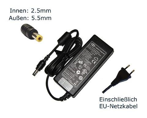 """Netzteil für Toshiba Satellite Tecra 19V 3,42A 65W PA3097U-1ACA PA3467E-1AC3 PA3396U-1ACA PA3467U PA3396U PA3396E PA3396 Notebook Laptop Ladegerät Aufladegerät, Charger, AC Adapter, Stromversorgung kompatibles Ersatz (12 Monate Garantie, einschließlich kostenlosem EU-Netzkabel) - """"Laptop Power"""" gebrandmarkt"""