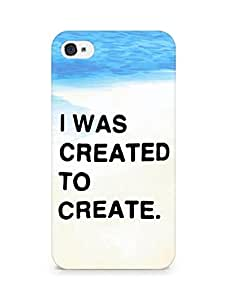 AMEZ i was created to create Back Cover For Apple iPhone 4