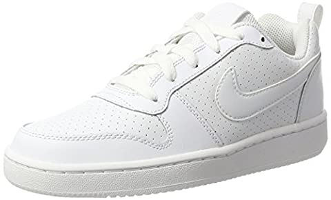 Nike Court Borough Low, Chaussures de Sport-Basketball Femme, Blanc Cassé (White/White/White), 38 EU