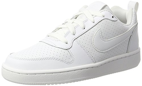 Nike Damen Wmns Court Borough Low Basketballschuhe, Schwarz, 36 EU, Weiß (Blanc/Blanc/Blanc), 39 EU