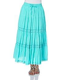 Roman Originals Women's Plain Tiered Skirt