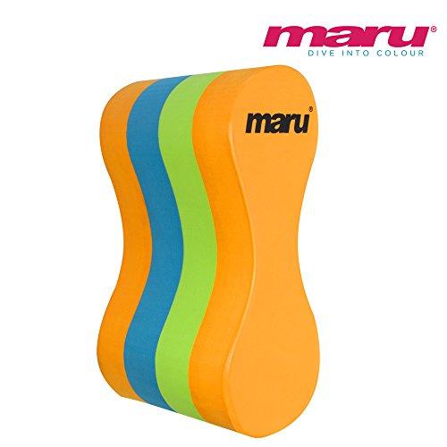 Maru Junior Pull Buoy - Kinder Pullbuoy - Orange/Blau/Limettengrün