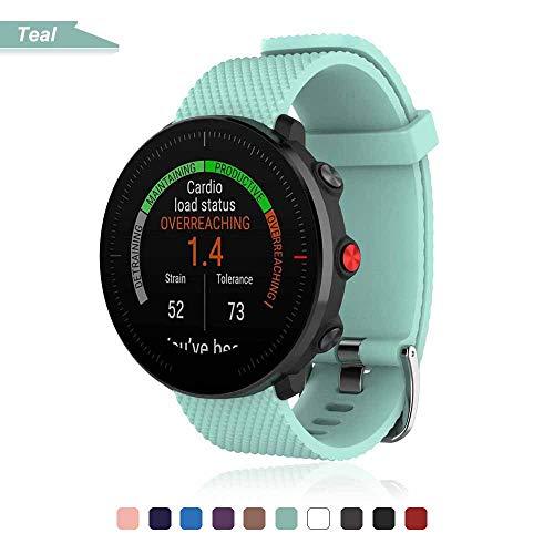 Bemodst Bracelet pour Polar Vantage M Smartwatch, Bande de Remplacement en Silicone Poignet Sangle de Sports Watch Accessoires pour Polar Vantage M Montre Intelligente (Sarcelle)