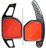 LED-Mafia 2X Schaltwippen DSG - Verlängerung Shift Paddle - Carbon Optik Alu 1C (Aluminium gebürstet)