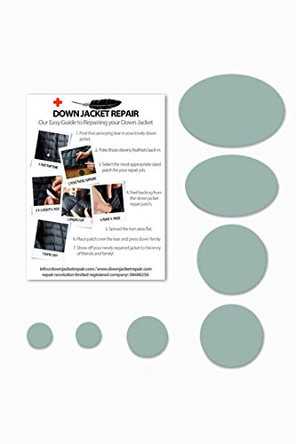 Doudoune Patch de réparation kit (Autocollant) Gris