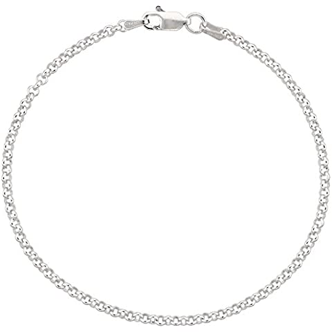 925 argento sterling catena rolò ltext, 2,3 mm, taglie 18-76 cm