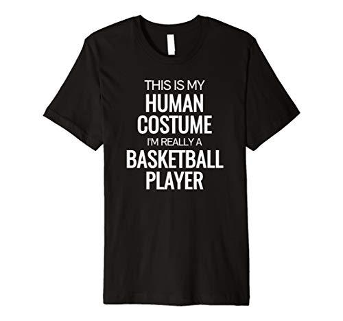 Echthaar Kostüm im wirklich einen Basketball Player Halloween Tshirt
