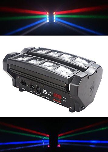 Led luz de haz móvil, 8x3W RGBW LED luz de araña de haz, uso para discoteca, salón de baile, KTV,...