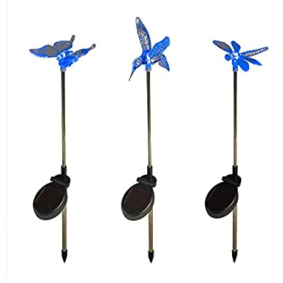 3er Set Solar Stableuchten Gartendeko Libelle Kolibri Schmetterling Lights4fun Parent