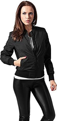 Urban Classics - Ladies Light Bomber Jacket - Blouson Femme -Noir (Black 7) - 36 (Taille Fabricant: XS)