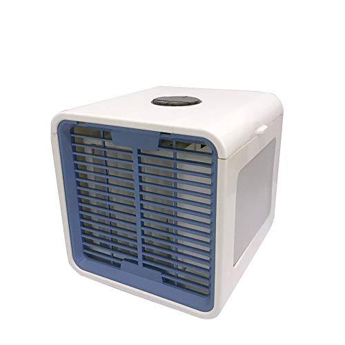3 in1 Mini Luftkühler, Air Cooler, Mobile Klimaanlage, leiser Tischventilator mit LED-Licht, USB Mini Luftkühler mit 3-stufiger Windregelung für Haus und Auto (Jack Auto Air)