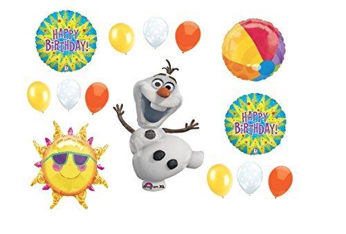 Fun in the Sun Frozen Olaf Happy Birthday Balloon Bouquet (Happy Birthday Olaf)