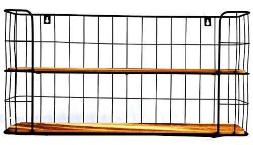 Wandregal Küchenregal Holz Metall Regal Shabby Industrie Gewürzregal Gewürzboard