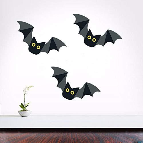 ndkunst Aufkleber Schwarz Abnehmbare Pvc Aufkleber Für Helloween Party Kinderzimmer Wohnzimmer Dekoration ()