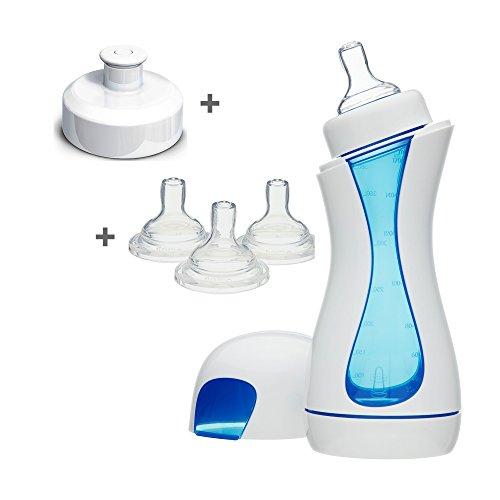 Iiamo Home Kit de Biberón Anticolicos + 3 Tetinas De Silicona + Accesorio Para Beber Sin BPA 380ml...