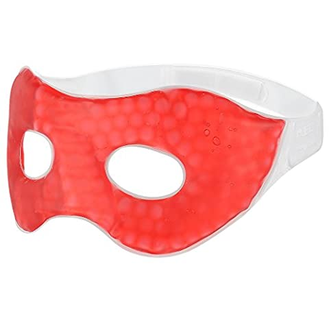 PLEMO Sleep Mask, Stylish Gel Eye Mask for Bedtime & Travel, Cool / Warm Therapy, Perfect for Insomnia, Puffy Eyes & Dark