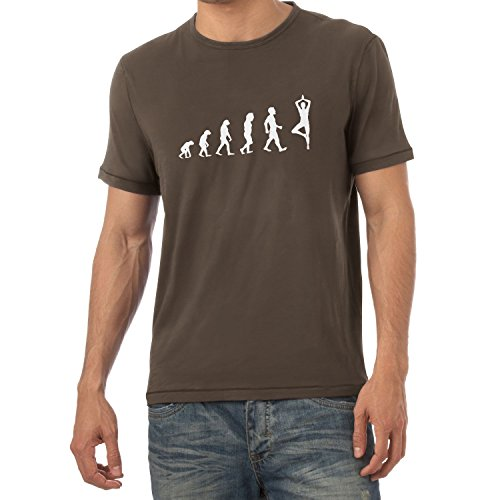 Texlab Yoga Evolution - Herren T-Shirt, Größe M, Braun