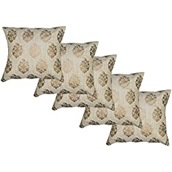 Durable Dupian Silk jacquard Decorative Square Throw Pillow Cover Cushion Case Sofa Chair car Seat Pillowcase 16 X 16 Inches 40cm x 40cm set of 5