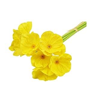 Mini Artificiales táctiles del Verdadero Flores de Las Amapolas (Naranja)