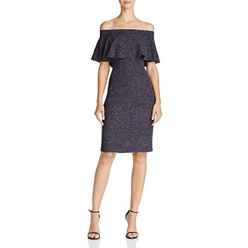 Eliza J Womens Off-The-Shoulder Ruffle Special Occasion Dress