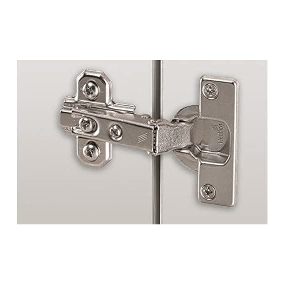 100% Genuine Hettich Slide On 2333 Auto Closing Concealed Hinges - 9.5 Crank for Half Overlay Doors - Opening Angle 95 Degree - Panel Thickness 14-25mm - Pack of 10 Pairs