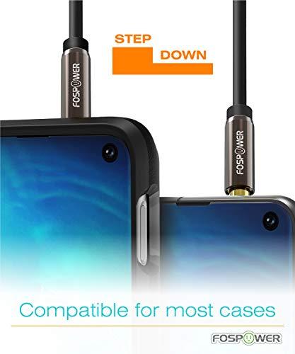 FosPower Stereo Audio Klinken Kabel Adapter Verlängerungskabel (0,9m) Verlängerung für AUX Eingänge 3.5mm Stecker auf 3,5 mm Buchse [Vergoldete Kontakte] für Audio iPhone, iPod, iPad, MP3-Player, Kopfhörer, Lautsprecher, Android Smartphones, Tablets – Schwarz - 3