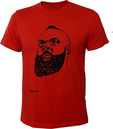 Camiseta de manga corta para hombre Mister Merchandise James Harden rojo S