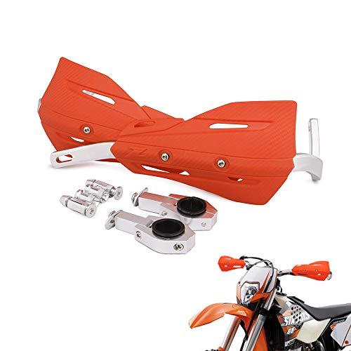Universal Hand Brush Guards Protector Handprotektoren, 22 mm und 28 mm Aluminium für Motocross Dirt Bike EXC EXCF SX SXF SXS MXC MX XC XCW XCF XCFW EGS Enduro (orange) (Bike Dirt Guards Hand)