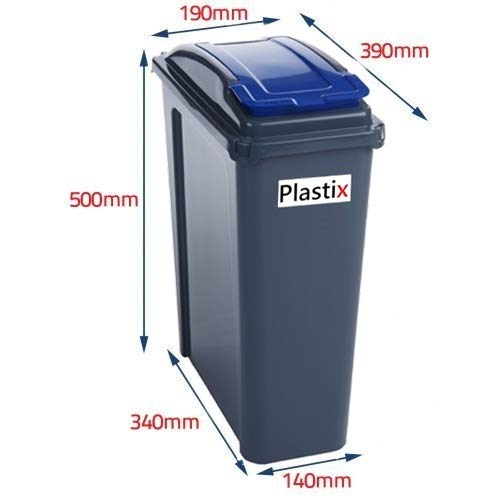 Plastic-Recycle-Recycling-Bin-with-Flap-Lid-Kitchen-Garden-Waste-Rubbbish-Bins-Dustbin