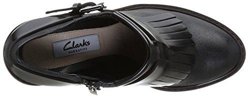 Clarks Blues Melody, Chaussures de ville femme Noir (Black Combi Lea)