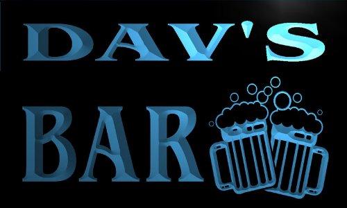 w081161-b-dav-name-home-bar-pub-beer-mugs-cheers-neon-light-sign
