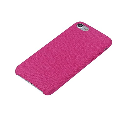 iPhone Case Cover Pour iPhone 7 denim texture TPU étui de protection arrière ( Color : Grey ) Magenta