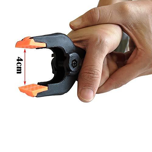 4Inch 6P ESUMIC/® Abrazaderas de fondo negro de nylon Abrazaderas de resorte para papel de muselina