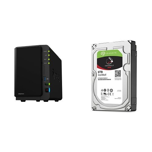 Price comparison product image Synology DS216+II 12TB (2x 6TB Seagate IronWolf) 2-bay Desktop Network Attached Storage