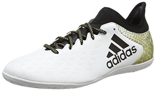 adidas X 16.3 In, Scarpe da Calcio Uomo Bianco (Ftwr White/core Black/gold Metallic)
