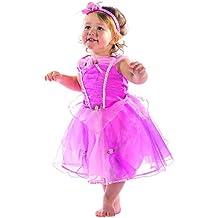 Princesas Disney - Disfraz Bella durmiente lujo, talla 18-24 meses, color rosa (Travis Designs