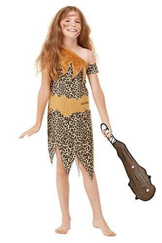 Smiffys 48776S Offizielles Lizenzprodukt Horrible Histories Höhlen-Kostüm, Unisex, für Kinder, Braun, Größe S – Alter 4-6 ()