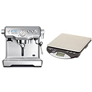 Sage by Heston Blumenthal BES920UK The Dual Boiler Espresso Machine - Silver & Coffee Gear Portafilter Bench Scale 2kg/0.1g