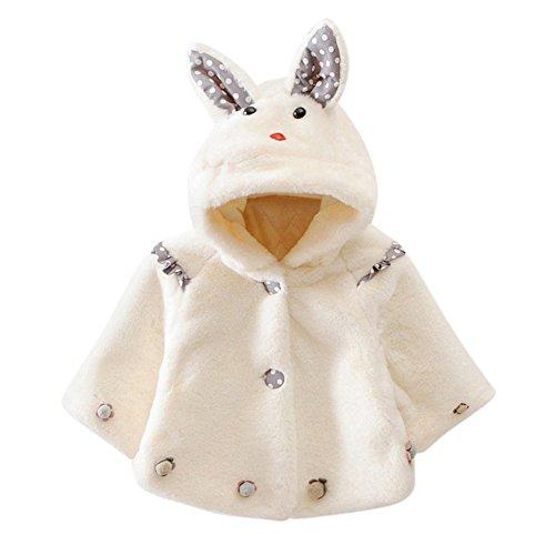 Bornbayb Warm Mantel Umhang für Baby Girl Kaninchen Design Faux Pelz Kleidung 9-36 (Oktoberfest Kostüme Girl)
