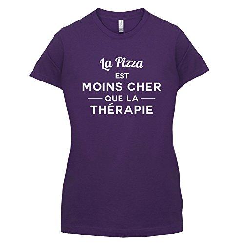 La pizza est moins cher que la thérapie - Femme T-Shirt - 14 couleur Violet