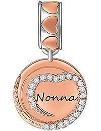 vendita calda online 46162 a3fa6 Amazon.it: Nonna - Charm e ciondoli per bracciali / Donna ...